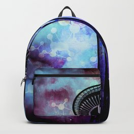 Space Needle - Seattle Stars Clouds Fog Backpack