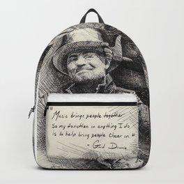 Gord Downie  Tribute Pen & Ink Drawing Backpack