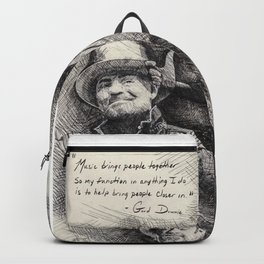 Gord Downie  Tribute Pen & Ink Drawing Backpack