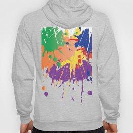 Colourful Paint splash Hoody