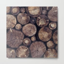 The Wood Holds Many Spirits // You Can Ask Them Now Edit Metal Print