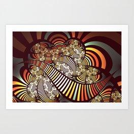 Vintage fractal 1 Art Print