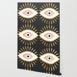 gold foil evil eye in blush Wallpaper