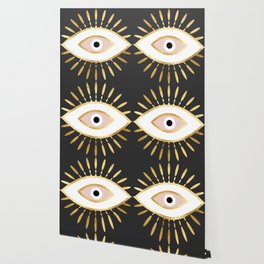 gold foil evil eye in blush Wallpaper