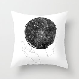 The Stargazer's Future is the Past Throw Pillow