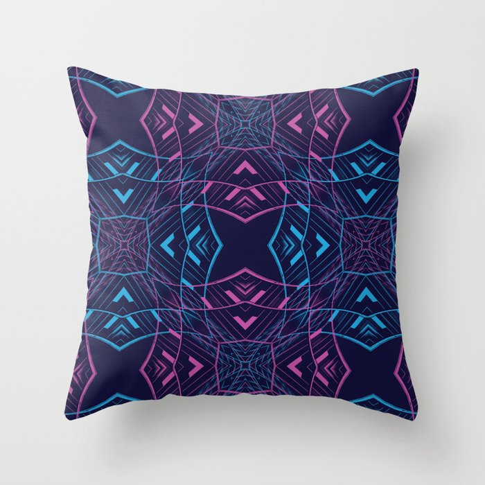 VISION / part two / neon Throw Pillow