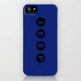 JEEP [TYPO] BLUE iPhone Case