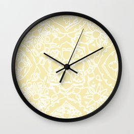 Isola Signature Print Lemon  Wall Clock