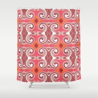 spice Shower Curtains featuring Marrakech Spice by ALLY COXON
