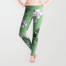 No One Can Make You Feel Inferior - Eleanor Roosevelt - Vintage Green Leggings