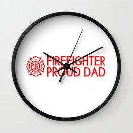 Firefighter: Proud Dad (Florian Cross) Wall Clock