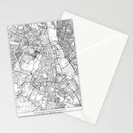 New Delhi Map White Stationery Cards
