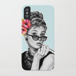Audrey Hepburn With Flowers - 7 iPhone Case