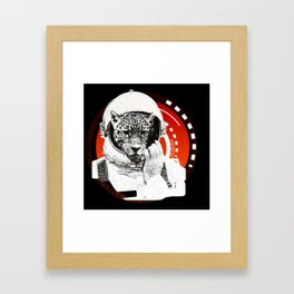 No One Can Hear You Meow in Space Framed Art Print