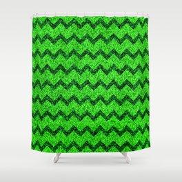 Chevron Glitter Pattern 05 Shower Curtain
