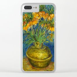 """Vincent Van Gogh """"Imperial Fritillaries in a Copper Vase"""" Clear iPhone Case"""