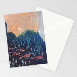 Night of the Foxes Stationery Cards