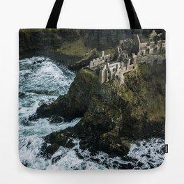 Castle ruin by the irish sea - Landscape Photography Tote Bag