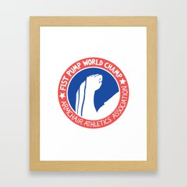 Fist Pump World Champ Framed Art Print