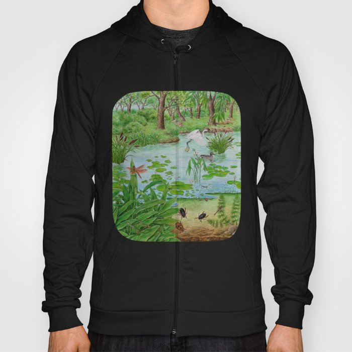 A Day of Forest (4). (the lake ecosystem) Hoody