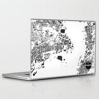 hong kong Laptop & iPad Skins featuring Hong Kong by Maps Factory