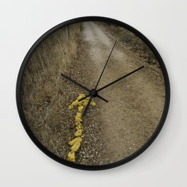 Yellow Arrow of the Camino Wall Clock