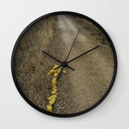 Yellow Arrow Waymarker Camino de Santiago de Compmostela  Wall Clock