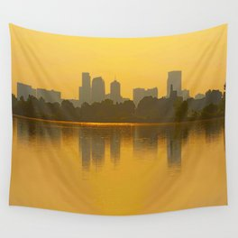 Come Sit With Me At Sloan Lake Downton Denver Colorado Wall Tapestry