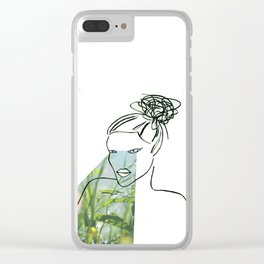 Parpadear (to blink) Clear iPhone Case