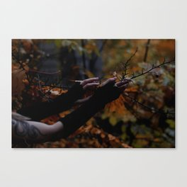Ruining hands of black ghost Canvas Print