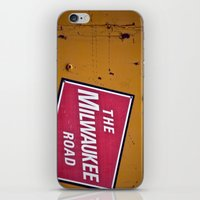 milwaukee iPhone & iPod Skins featuring The Milwaukee Road by Eric Weiand