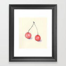 Cherries in Watercolor Framed Art Print