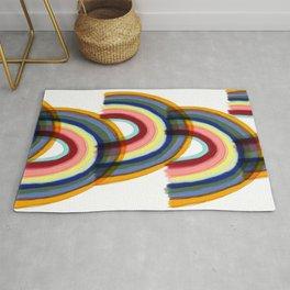 Rainbow Lines 2 Rug