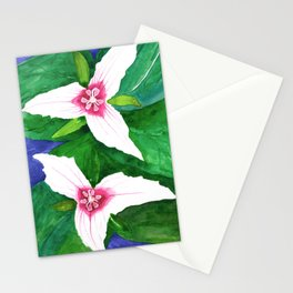 Painted Trillium Watercolor Stationery Cards