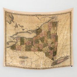 Map of New York (1823) Wall Tapestry