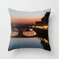florence Throw Pillows featuring Florence  by AntWoman
