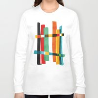broken Long Sleeve T-shirts featuring Broken Fences by Picomodi