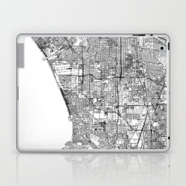 Los Angeles White Map Laptop & iPad Skin