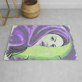 Lady In Purple Hood Rug