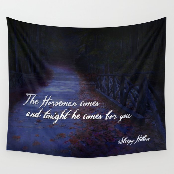The Horseman comes for you... Wall Tapestry