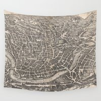 rome Wall Tapestries featuring Rome  by Le petit Archiviste
