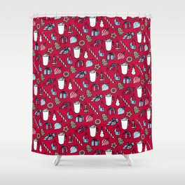 Xmas Stuff – Red Shower Curtain
