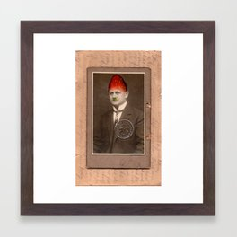 Cabinet Photo repainted - Strawberry Head Framed Art Print