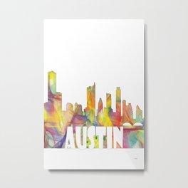 Austin Texas Skyline MCLR 2 Metal Print