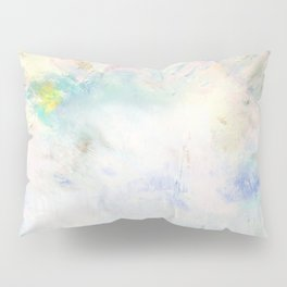 Snowy Brushstrokes Pillow Sham