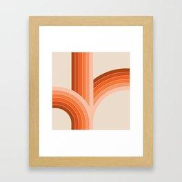 Red Rock Bounce Framed Art Print