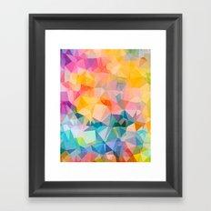 Polygons Framed Art Print
