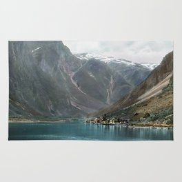 Village by the Lake & Mountains Rug