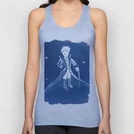 Little Prince Cyanotype Unisex Tank Top