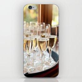 Wedding banquet champagne glasses iPhone Skin